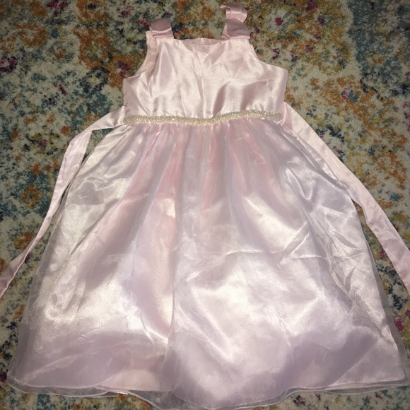 Bonnie Jean girls baby pink Easter dress size 6x